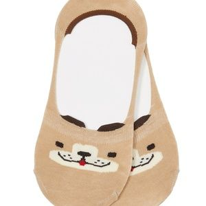 Cute Doggy Ankle Sock - Tan